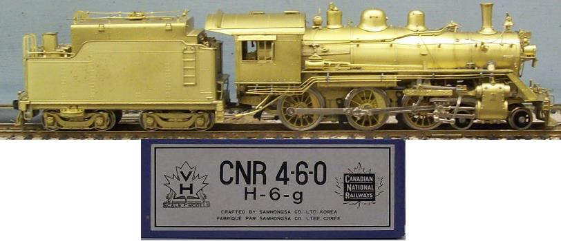 Canadian National Railway - CNR H-6-g 4-6-0