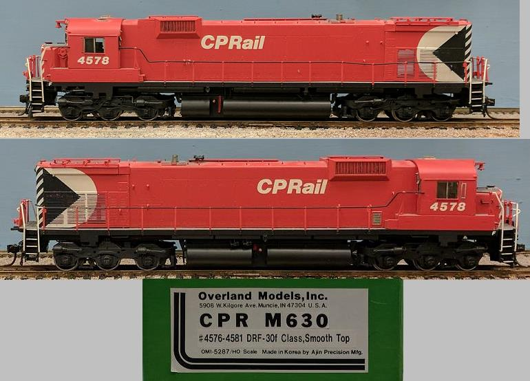 CP Rail - CPR M630 DRF-30f Class, Smooth Top, #4576-4581