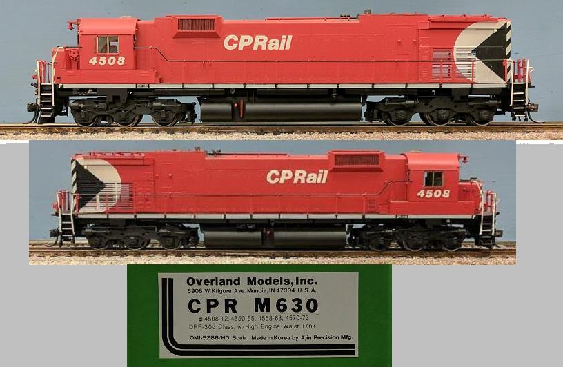 CP Rail - CPR M630 DRF-30d Class, w high Engine Water tank. #4508-12, 4550-55, 4558-63, 4570-73