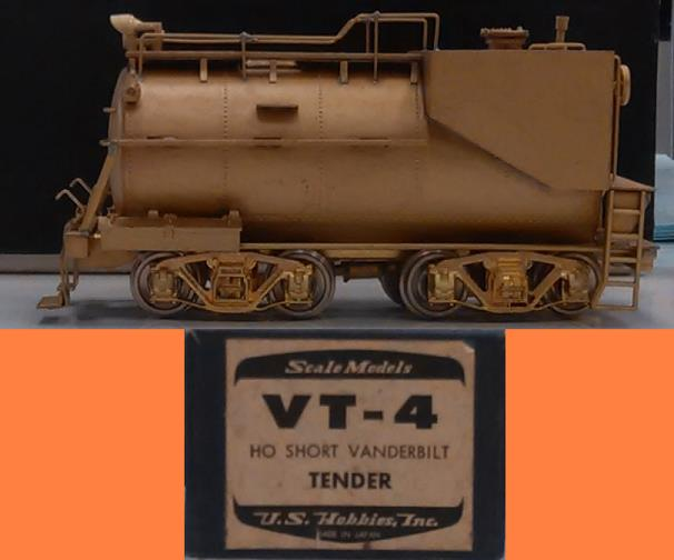 Undecorated - HO Short Vanderbilt Tender