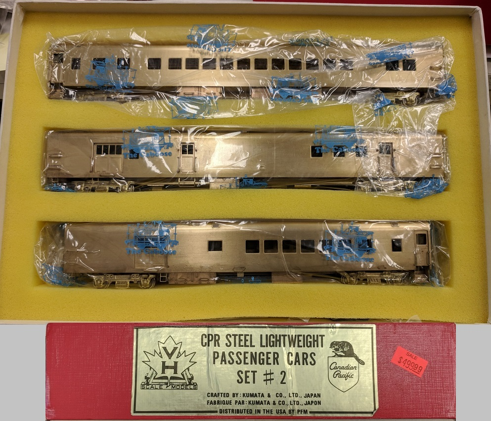 Canadian Pacific Railway - CPR Steel Lighweight pasenger Cars Set#2