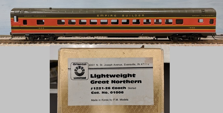 Great Northern Railway - Great Northern Lightweigh Coach Series #1221-1226