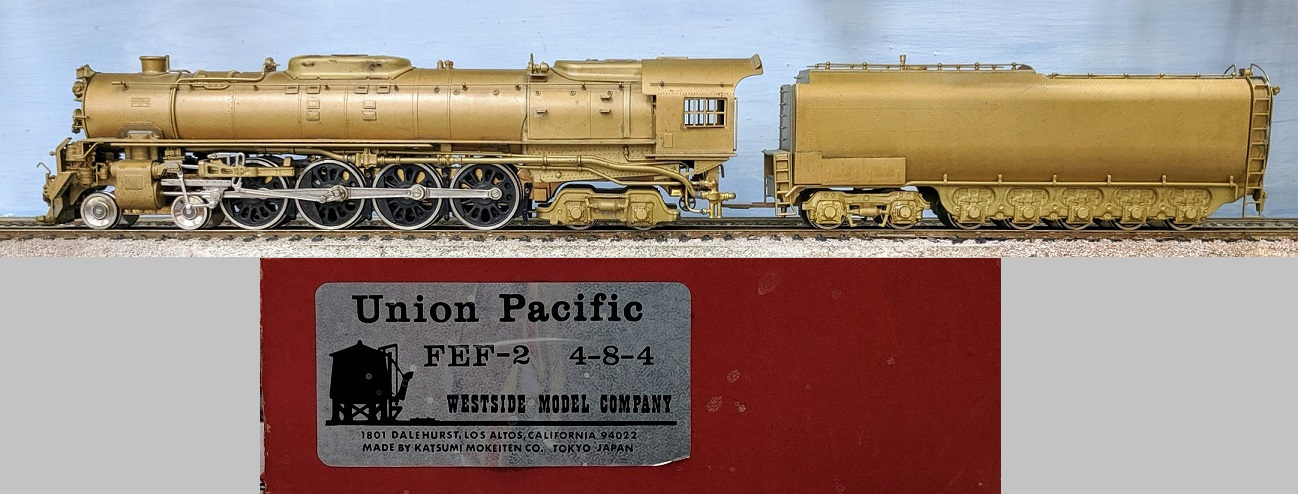 Union Pacific - UP FEF-2 4-8-2. Separate Smoke Deflectors, boiler weight and spare parts.