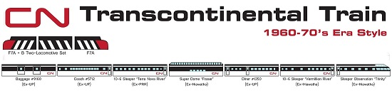 CN Transcontinental Set
