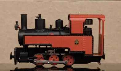 Decauville Progres Steam Locomotive Red