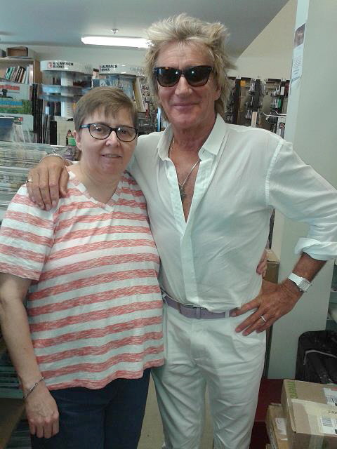 Rod Stewart and Kathy
